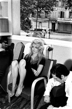 Brigitte Bardot by Loomis Dean on the set of La Femme et le Pantin in Spain, June 1958.