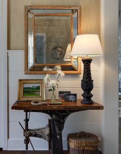 vignette designed by gauthier/stacy inc. Vignette Design, Simply Home, Entry Hall, Interior Photography, Decoration, Vintage Decor, Contemporary Furniture, Entryway Tables, Sweet Home