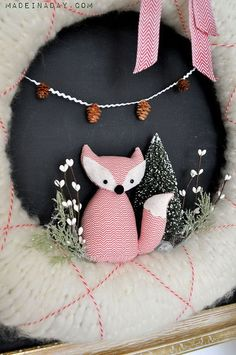 how to make a fox wreath for the holidays, crafts, seasonal holiday decor, wreaths