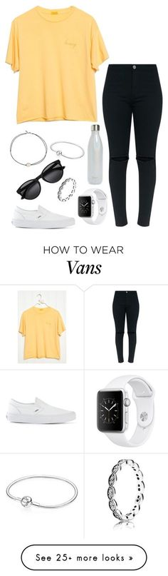 """honey"" by kyleemorrison on Polyvore featuring Vans, Pandora, S'well and Vanessa Mooney"