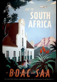 A SLICE IN TIME Fly to South Africa Airplane Vintage African Travel Advertisement Collectible Wall Decor Poster Print. Measures 10 x inches Travel Ads, Airline Travel, Air Travel, Retro Airline, Vintage Airline, Posters Decor, Art Posters, Tourism Poster, Sa Tourism