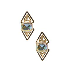 Katy Perry Double PRISM Gold Stud Earrings