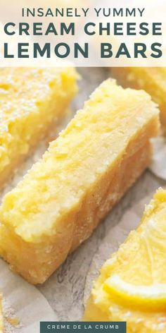Lemon Dessert Recipes, Easy Desserts, Sweet Recipes, Baking Recipes, Cookie Recipes, Desserts With Lemon, Recipes With Lemon, Healthy Lemon Desserts, Desserts With Cream Cheese