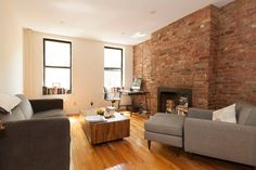 Living Room w/windows facing street - Get $25 credit with Airbnb if you sign up with this link http://www.airbnb.com/c/groberts22
