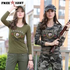 Find More T-Shirts Information about Fashion Long Sleeve Camouflage T Shirts Womens O Neck Military Army Green Cotton Spandex T shirts Ladies Tops and Tees Gs 8359,High Quality fashion t shirt women,China t shirt women Suppliers, Cheap t shirt women fashion from Free Army Boutique store on Aliexpress.com