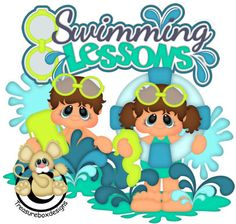 Swimming Lessons - Treasure Box Designs Patterns & Cutting Files (SVG,WPC,GSD,DXF,AI,JPEG)
