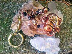 Copper Elephant Keychain KeyringLucky Elephant by Lusmysticjewels