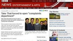 """Take That forced to open """"complaints department"""""""