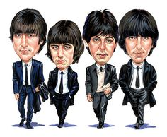 The Beatles (John Lennon, Ringo Starr, Paul McCartney, George Harrison) Poster Dos Beatles, Beatles Art, John Lennon Beatles, Beatles Museum, Beatles Lyrics, Funny Caricatures, Celebrity Caricatures, Ringo Starr, Rock And Roll