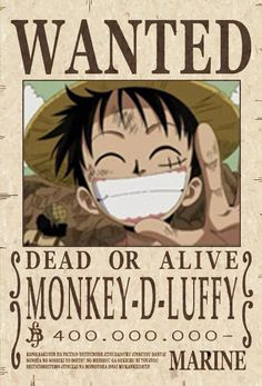 50 Wanted Posters Ideas One Piece Bounties One Piece Anime One Piece