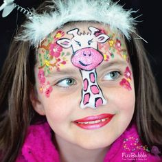 My favourite animal is the Giraffe - inspired by a pair of her pyjamas #fizzbubble #facepaint #facepainter #facepainting #faceart #cute…
