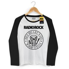 Camiseta Manga Longa Raglan Feminina 89 FM A Rádio Rock Hey Ho Viva o Rock! #LojaRadioRock #89FMARadioRock #bandUP