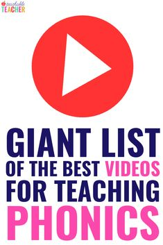 Are you looking for engaging videos to teach kids phonics? I've spent hours finding the perfect phonics videos. Phonics Rules, Phonics Lessons, Teaching Phonics, Phonics Activities, Teaching Reading, Reading Fluency, Teaching Resources, Japanese Language, Spanish Language