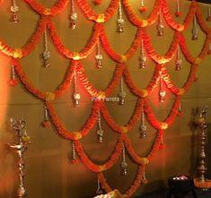 Decorations Flower Decorations Fiestas Hindu Decoraci Atilde N Housewarming Decorations, Diy Diwali Decorations, Wedding Stage Decorations, Backdrop Decorations, Flower Decorations, Diwali Diy, Diwali Craft, Diwali Party, Ganpati Decoration Design