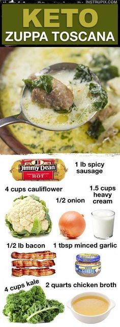 Low Carb Soup Recipes, Ketogenic Recipes, Diet Recipes, Healthy Recipes, Dessert Recipes, Breakfast Recipes, Vegetarian Recipes, Sausage Recipes, Recipes Dinner