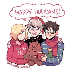 "7,107 Likes, 24 Comments - Yuri on ice (@yuuriviktor) on Instagram: ""Aww • Artist ↴ Tumblr: supasaizu Link to original post:…"""