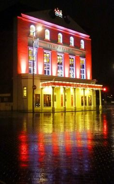 The Old Vic sitting pretty in the rain. November 2012.