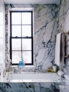 House tour: a finely tuned classic Manhattan apartment: The marble bathroom. Go to ellenhansondesigns.com. This home originally appeared in the NOvember/December 2015 issue of Vogue Living. YOU SHOULD ALSO SEE: A Manhattan townhouse reimagined for family life