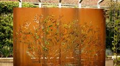 I want this for the backyard by the hot tub! (Garden Screens Melbourne - Metal Screens | Pierre Le Roux Design)