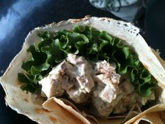 Savory Chicken Salad Crepe from Sophie's Crepes in Japan Town, San Francisco