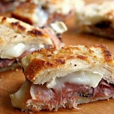 Prosciutto and Brie Sandwiches with Rosemary Fig Confit