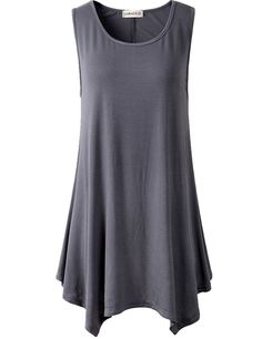 larace women plus size solid basic flowy tank tops summer sleeveless tunic  1e9adcca7c96