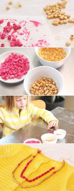 Simple/Fun: Pasta Bead Necklaces