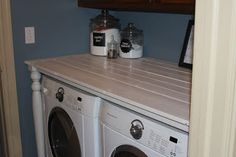"""""""old table"""" look over washer and dryer"""