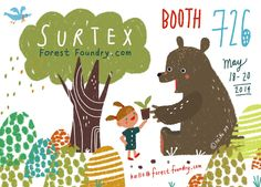 Surtex 2014, forest foundry www.forestfoundry.com #surtex #forestfoundry #illustration