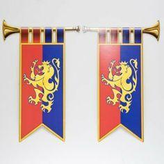 Royal Trumpet Banner Cutouts by Century Novelty, http://www.amazon.com/dp/B0038BOEKU/ref=cm_sw_r_pi_dp_9vlmrb11BAZ3Z