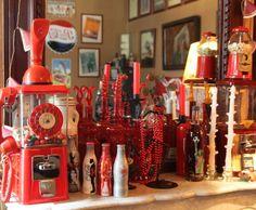 Photo Deco : Salon  Rouge  Retro   Appartement Vintage Americain