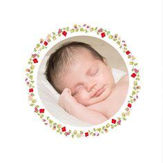 faire part naissance Jardin fleuri photo by ÉLÉPHANT (rose) pour www.fairepartnaissance.fr #birth #announcement #rosemood #flowers