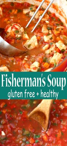 This richly flavored but simple fishermans soup recipe is filled with tilapia (or other white fish) shrimp and a spicy tomato broth. Considering the depth of flavor it is surprisingly healthy and low-fat. 238 calories and 1 Weight Watchers SP Seafood Recipes, Gourmet Recipes, Dinner Recipes, Cooking Recipes, Healthy Recipes, Sweet Recipes, Seafood Stew, Fish And Seafood, Photo Food