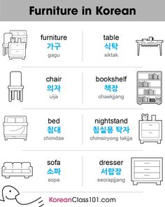 Furniture Vocabulary in Korean Want more Korean Grammar? Try KoreanClass101 for FREE!