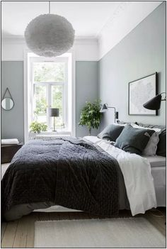 Gray and Sage Green Bedroom. Gray and Sage Green Bedroom. Gray and Sage Green Bedroom Gray and Sage Green Bedroom Bedroom Apartment, Home Decor Bedroom, Master Bedroom, Bedroom Furniture, Bedroom Designs, Bedroom Small, Ikea Bedroom, Girls Bedroom, Master Suite