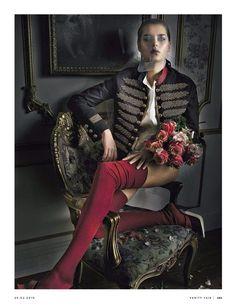 """""""Marie Antoinette"""" Solveig Mork Hansen by Kelly Klein for Vanity Fair Italy February 2015"""