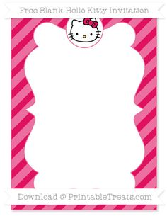 Free Printable Hello Kitty Invitations Camila Pinterest