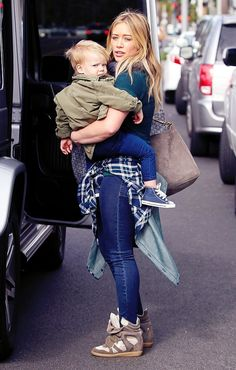 Hilary Duff and Lucca