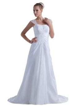 Herafa Chemise A-Line Wedding Dress Chapel Train Ruched & Delicate Beading White Size:12 herafa,http://www.amazon.com/dp/B00BM6RAZO/ref=cm_sw_r_pi_dp_7Trrrb1NATK6X3NN