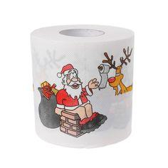 2 Camadas de Natal Papai Noel Veados Tecido Sala de estar Decoração de Papel Higiênico Rolo de Papel Higiénico Tecido Novo