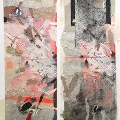 Collage in diptych format about the floodplain at Anbangbang Billabong. Read about the process in my #ART BLOG at http://wp.me/p2RUIx-1bU and http://wp.me/p2RUIx-1aG #contemporarycollage #contemporarycollageart #abstractart #modernart #ricepaper #handmadepaper #digitalart #printmakingpaper #northernterritory #landforms #floodplain #au.pinterest.com/elainedesterreart/digital-%2B-collage-nterritory-Aus-revisited/