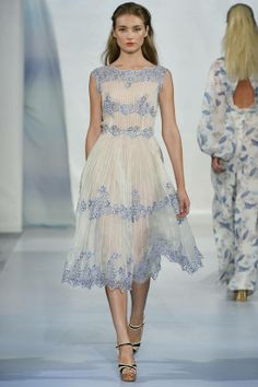 Luisa Beccaria goes feminine with lashings of lace for Spring/Summer2014