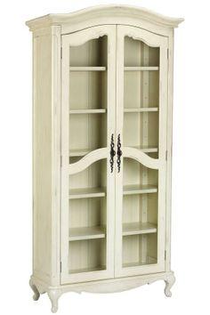 Provence Double Bookcase - Glass Door Bookcases - Bookcases - Furniture   HomeDecorators.com