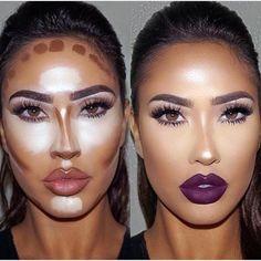 Make up contouring, how to contour, face contouring makeup, contouring Makeup Goals, Makeup Inspo, Makeup Inspiration, Makeup Tips, Makeup Ideas, Glam Makeup, Full Makeup, Makeup Tutorials, Makeup Geek