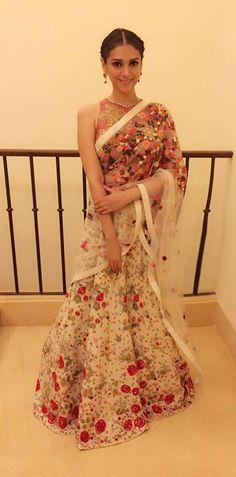 Varun Bahl Flower Sari