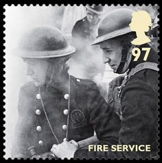 Royal Mail World War II Stamps - Fire Service stamp