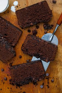 In this stunning dessert, a moist and soft chocolate poundcake is topped on two sides — bottom and top — with crunchy, slightly salty streusel flecked with chocolate chips. (Photo: Andrew Scrivani for The New York Times)