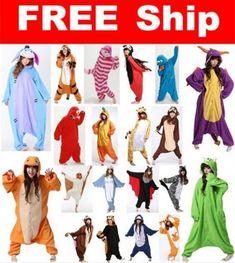 New Hot Adult Unisex Kigurumi Pajamas Animal Cosplay Costume Onesie Sleepwear