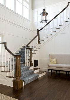 shiplap height in stairwell - Google Search