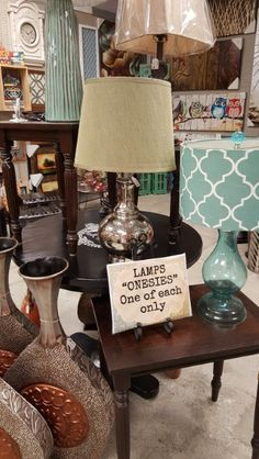 """Lots of lamps to choose from ...More than the """"onesies"""" ... there are several sets just waiting for you!"""